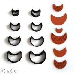Crescent Clay Cutters