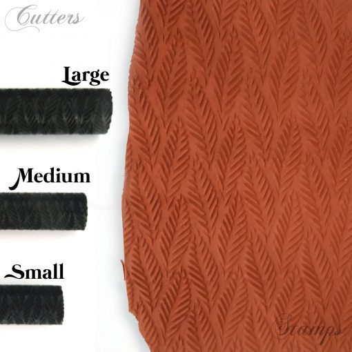 Clay Leaf Texture Roller