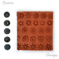 Summer Flower Clay Texture Stamps