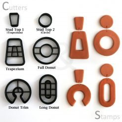 Donut Polymer Clay Cutters
