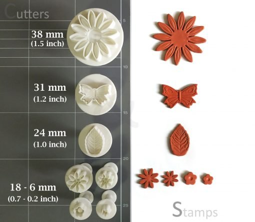 Plunger Polymer Clay Cutters sets