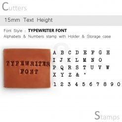 Clay Alphabet Stamps